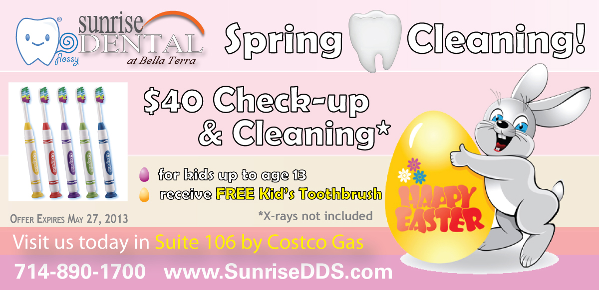 $40 Kid's dental special from Sunrise Dental Center