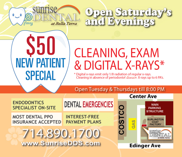 $50 New Dental Patient Special Huntington Beach Dentist